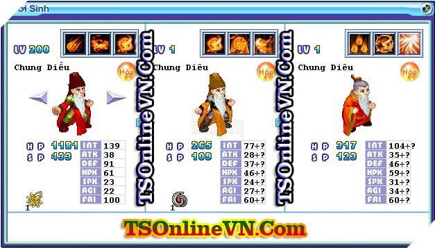 TS Online Mobile: Tổng hợp tất cả Pet Hỏa chuyển sinh 1 và 2 đầy đủ nhất 82