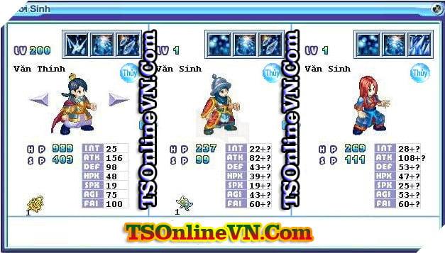 TS Online Mobile: Tổng hợp tất cả Pet Hệ Thủy chuyển sinh 1 và 2 đầy đủ nhất 61