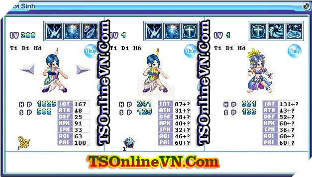 TS Online Mobile: Tổng hợp tất cả Pet Hệ Thủy chuyển sinh 1 và 2 đầy đủ nhất 45