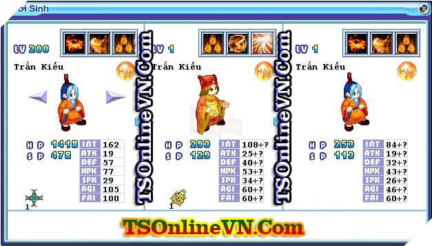 TS Online Mobile: Tổng hợp tất cả Pet Hỏa chuyển sinh 1 và 2 đầy đủ nhất 75