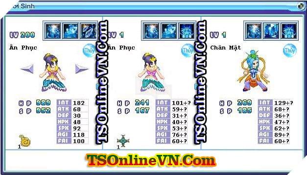 TS Online Mobile: Tổng hợp tất cả Pet Hệ Thủy chuyển sinh 1 và 2 đầy đủ nhất 2
