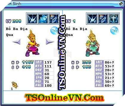 TS Online Mobile: Tổng hợp tất cả Pet Hệ Thủy chuyển sinh 1 và 2 đầy đủ nhất 28