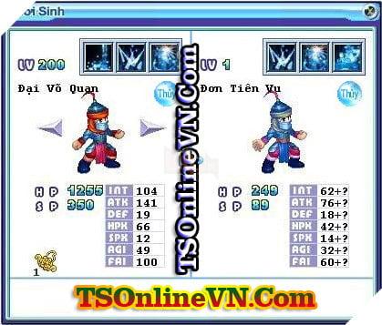 TS Online Mobile: Tổng hợp tất cả Pet Hệ Thủy chuyển sinh 1 và 2 đầy đủ nhất 72