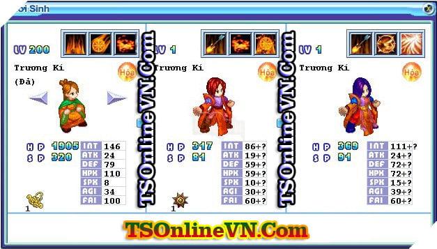 TS Online Mobile: Tổng hợp tất cả Pet Hỏa chuyển sinh 1 và 2 đầy đủ nhất 66
