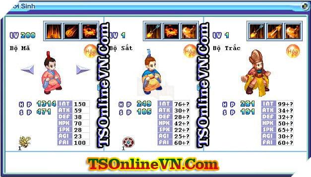 TS Online Mobile: Tổng hợp tất cả Pet Hỏa chuyển sinh 1 và 2 đầy đủ nhất 86