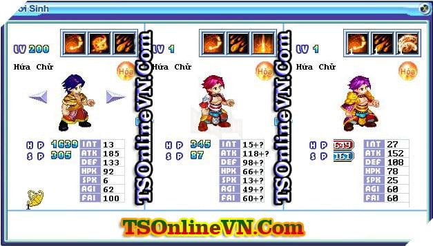 TS Online Mobile: Tổng hợp tất cả Pet Hỏa chuyển sinh 1 và 2 đầy đủ nhất 13