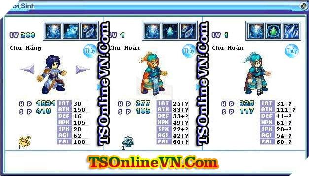 TS Online Mobile: Tổng hợp tất cả Pet Hệ Thủy chuyển sinh 1 và 2 đầy đủ nhất 55