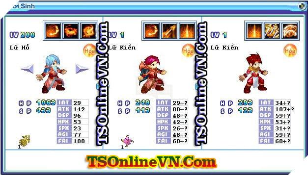 TS Online Mobile: Tổng hợp tất cả Pet Hỏa chuyển sinh 1 và 2 đầy đủ nhất 61