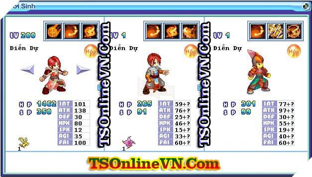 TS Online Mobile: Tổng hợp tất cả Pet Hỏa chuyển sinh 1 và 2 đầy đủ nhất 69