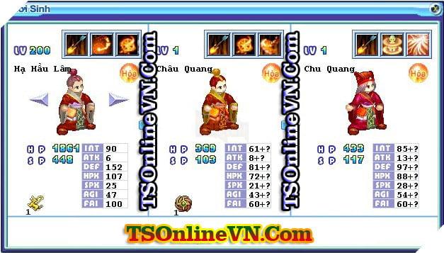 TS Online Mobile: Tổng hợp tất cả Pet Hỏa chuyển sinh 1 và 2 đầy đủ nhất 48