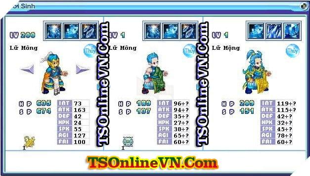 TS Online Mobile: Tổng hợp tất cả Pet Hệ Thủy chuyển sinh 1 và 2 đầy đủ nhất 18