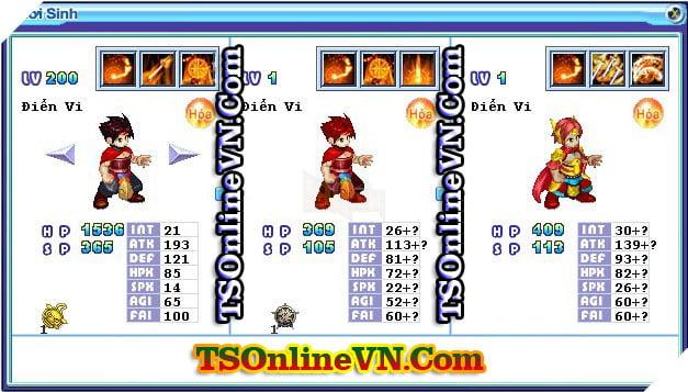 TS Online Mobile: Tổng hợp tất cả Pet Hỏa chuyển sinh 1 và 2 đầy đủ nhất 8