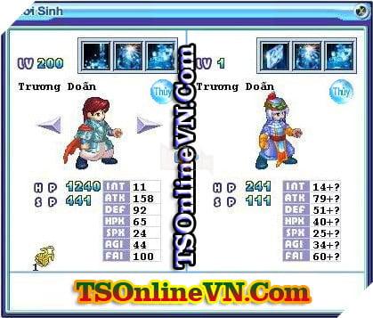 TS Online Mobile: Tổng hợp tất cả Pet Hệ Thủy chuyển sinh 1 và 2 đầy đủ nhất 68