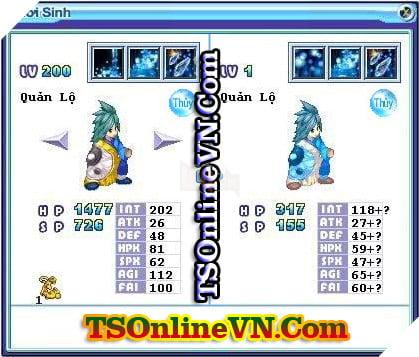 TS Online Mobile: Tổng hợp tất cả Pet Hệ Thủy chuyển sinh 1 và 2 đầy đủ nhất 3