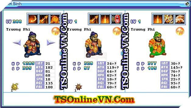 TS Online Mobile: Tổng hợp tất cả Pet Hỏa chuyển sinh 1 và 2 đầy đủ nhất 9