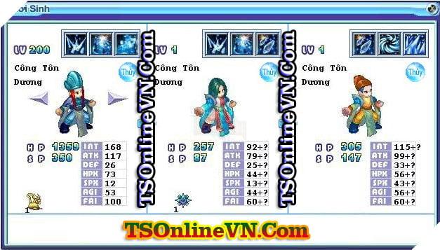 TS Online Mobile: Tổng hợp tất cả Pet Hệ Thủy chuyển sinh 1 và 2 đầy đủ nhất 36