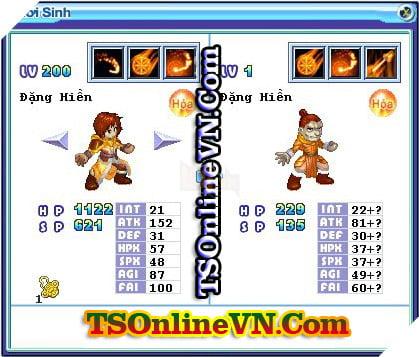 TS Online Mobile: Tổng hợp tất cả Pet Hỏa chuyển sinh 1 và 2 đầy đủ nhất 65