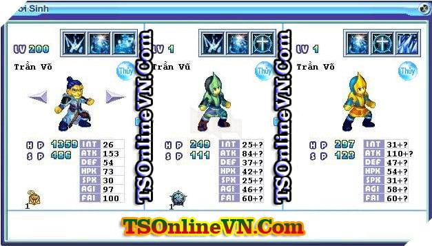TS Online Mobile: Tổng hợp tất cả Pet Hệ Thủy chuyển sinh 1 và 2 đầy đủ nhất 46