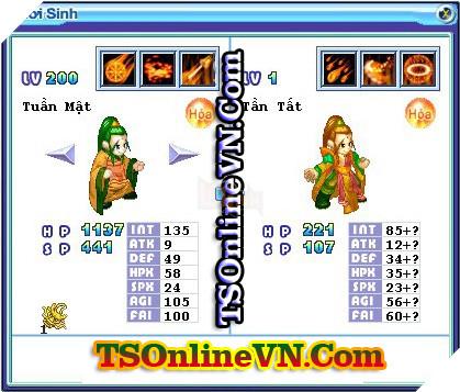 TS Online Mobile: Tổng hợp tất cả Pet Hỏa chuyển sinh 1 và 2 đầy đủ nhất 80