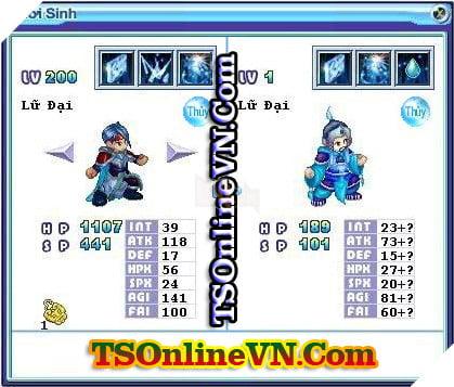 TS Online Mobile: Tổng hợp tất cả Pet Hệ Thủy chuyển sinh 1 và 2 đầy đủ nhất 67