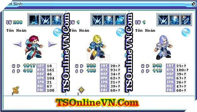 TS Online Mobile: Tổng hợp tất cả Pet Hệ Thủy chuyển sinh 1 và 2 đầy đủ nhất 63