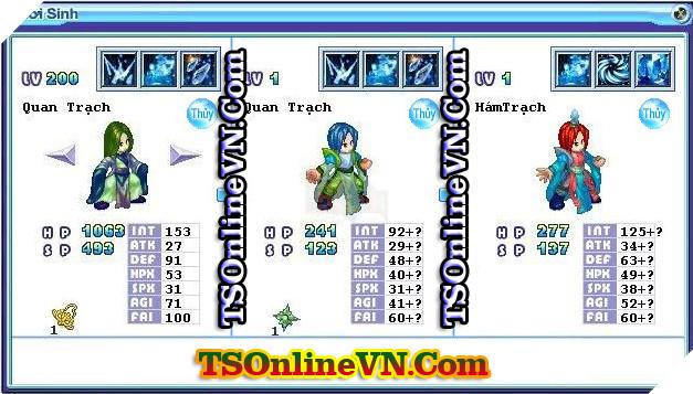 TS Online Mobile: Tổng hợp tất cả Pet Hệ Thủy chuyển sinh 1 và 2 đầy đủ nhất 47