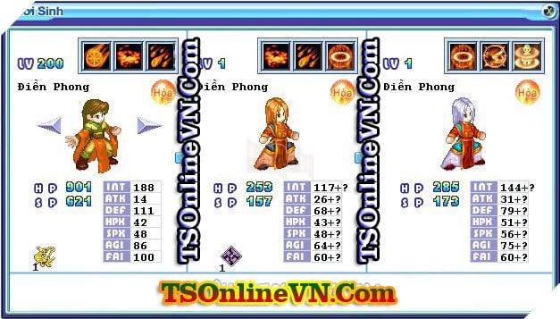 TS Online Mobile: Tổng hợp tất cả Pet Hỏa chuyển sinh 1 và 2 đầy đủ nhất 16