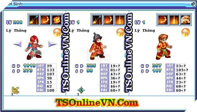 TS Online Mobile: Tổng hợp tất cả Pet Hỏa chuyển sinh 1 và 2 đầy đủ nhất 74
