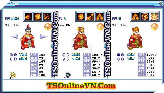 TS Online Mobile: Tổng hợp tất cả Pet Hỏa chuyển sinh 1 và 2 đầy đủ nhất 33