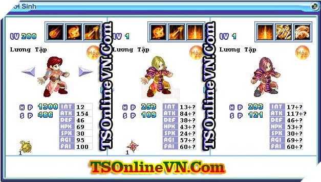 TS Online Mobile: Tổng hợp tất cả Pet Hỏa chuyển sinh 1 và 2 đầy đủ nhất 64