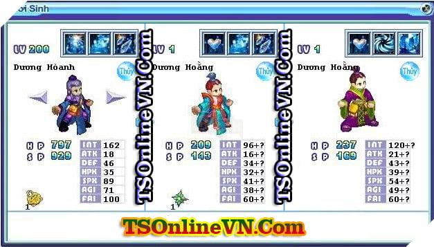 TS Online Mobile: Tổng hợp tất cả Pet Hệ Thủy chuyển sinh 1 và 2 đầy đủ nhất 50