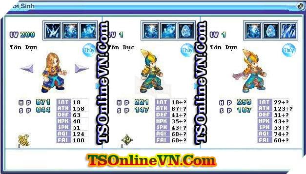 TS Online Mobile: Tổng hợp tất cả Pet Hệ Thủy chuyển sinh 1 và 2 đầy đủ nhất 30
