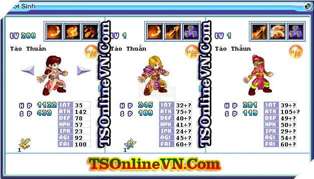 TS Online Mobile: Tổng hợp tất cả Pet Hỏa chuyển sinh 1 và 2 đầy đủ nhất 52