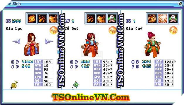 TS Online Mobile: Tổng hợp tất cả Pet Hỏa chuyển sinh 1 và 2 đầy đủ nhất 30