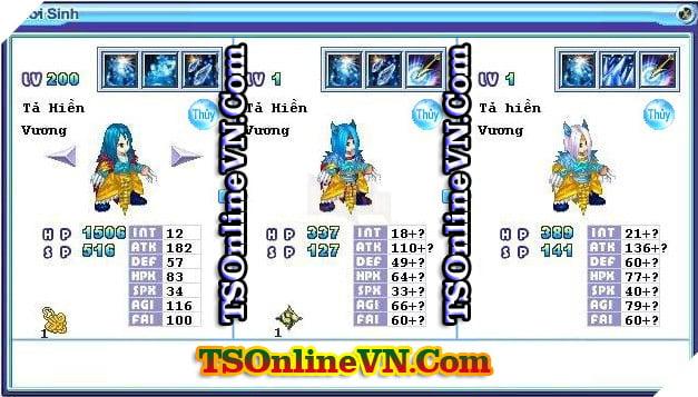 TS Online Mobile: Tổng hợp tất cả Pet Hệ Thủy chuyển sinh 1 và 2 đầy đủ nhất 15