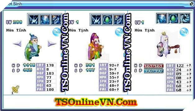 TS Online Mobile: Tổng hợp tất cả Pet Hệ Thủy chuyển sinh 1 và 2 đầy đủ nhất 33
