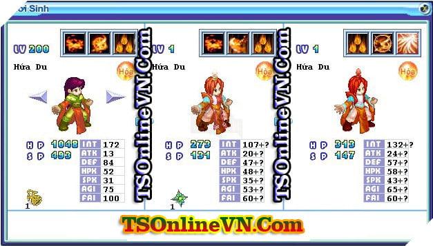 TS Online Mobile: Tổng hợp tất cả Pet Hỏa chuyển sinh 1 và 2 đầy đủ nhất 54
