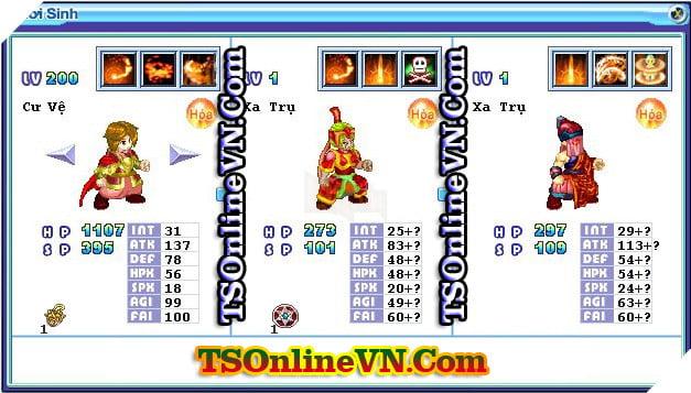 TS Online Mobile: Tổng hợp tất cả Pet Hỏa chuyển sinh 1 và 2 đầy đủ nhất 51