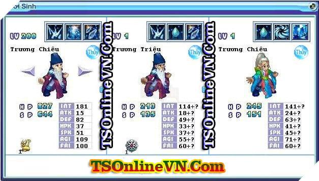 TS Online Mobile: Tổng hợp tất cả Pet Hệ Thủy chuyển sinh 1 và 2 đầy đủ nhất 16