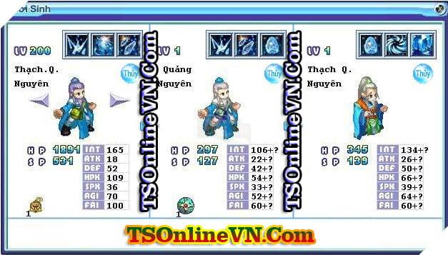 TS Online Mobile: Tổng hợp tất cả Pet Hệ Thủy chuyển sinh 1 và 2 đầy đủ nhất 37