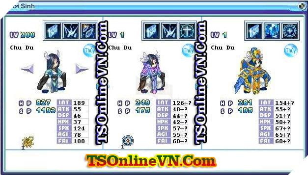 TS Online Mobile: Tổng hợp tất cả Pet Hệ Thủy chuyển sinh 1 và 2 đầy đủ nhất 7