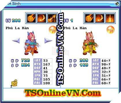 TS Online Mobile: Tổng hợp tất cả Pet Hỏa chuyển sinh 1 và 2 đầy đủ nhất 24