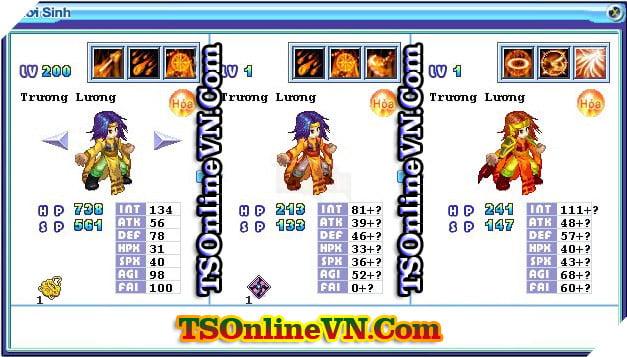 TS Online Mobile: Tổng hợp tất cả Pet Hỏa chuyển sinh 1 và 2 đầy đủ nhất 42