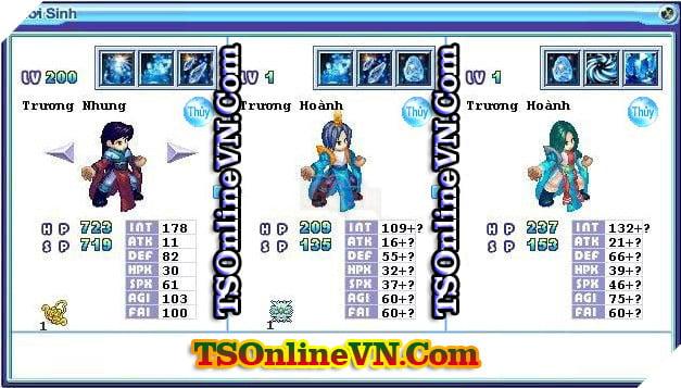 TS Online Mobile: Tổng hợp tất cả Pet Hệ Thủy chuyển sinh 1 và 2 đầy đủ nhất 22