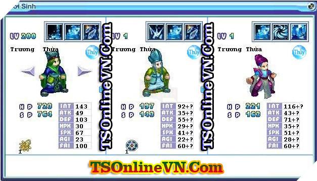 TS Online Mobile: Tổng hợp tất cả Pet Hệ Thủy chuyển sinh 1 và 2 đầy đủ nhất 57