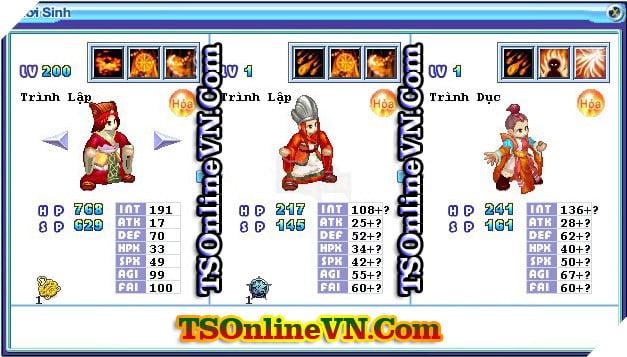 TS Online Mobile: Tổng hợp tất cả Pet Hỏa chuyển sinh 1 và 2 đầy đủ nhất 25