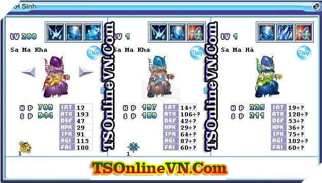 TS Online Mobile: Tổng hợp tất cả Pet Hệ Thủy chuyển sinh 1 và 2 đầy đủ nhất 13