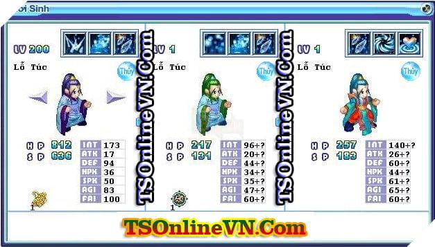 TS Online Mobile: Tổng hợp tất cả Pet Hệ Thủy chuyển sinh 1 và 2 đầy đủ nhất 27