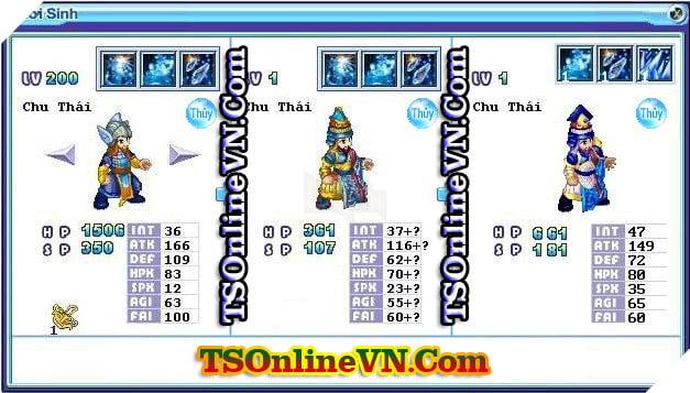 TS Online Mobile: Tổng hợp tất cả Pet Hệ Thủy chuyển sinh 1 và 2 đầy đủ nhất 20