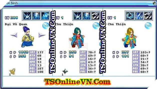 TS Online Mobile: Tổng hợp tất cả Pet Hệ Thủy chuyển sinh 1 và 2 đầy đủ nhất 54